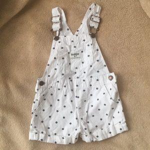 Oshkosh B'gosh Toddler Girls Shortalls NEW 24m